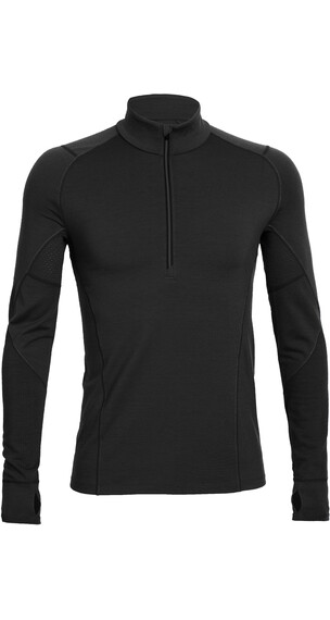 Icebreaker M's Zone LS Half Zip Black/Monsoon/Monsoon